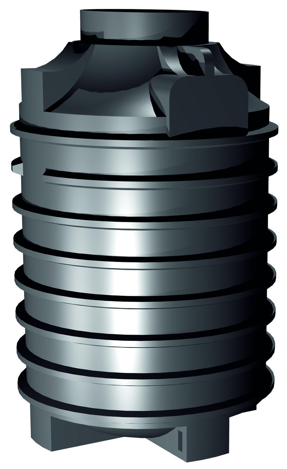 Plastová jímka Ozeanis Schacht 2000 litrů Plastová samonosná jímka na splaškovou nebo dešťovou vodu.