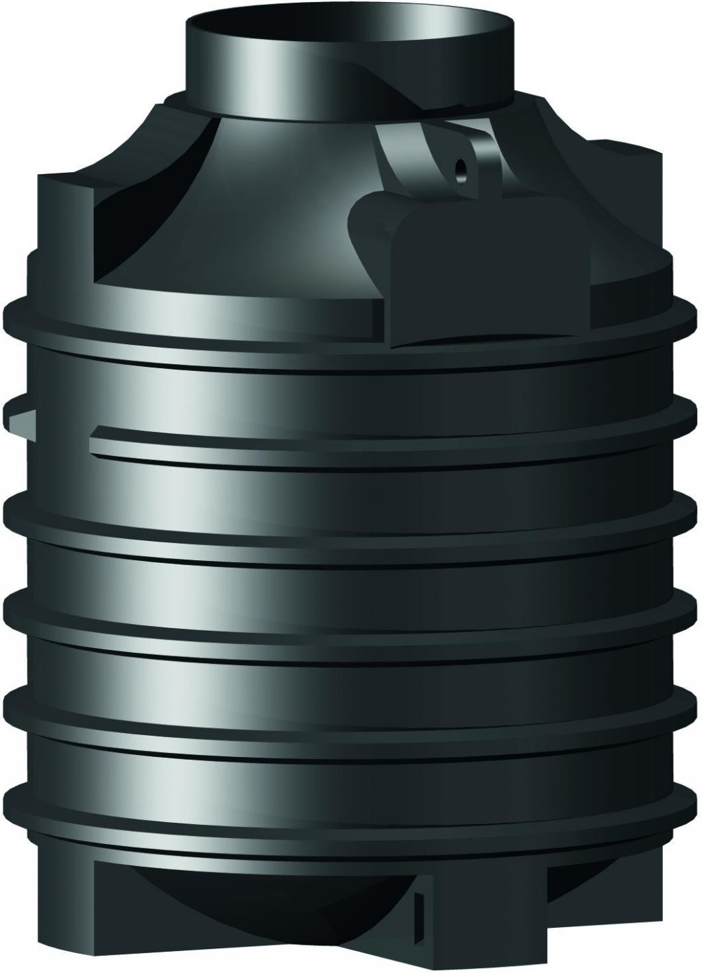 Plastová jímka Ozeanis Schacht 1500 litrů Plastová samonosná jímka na splaškovou nebo dešťovou vodu.