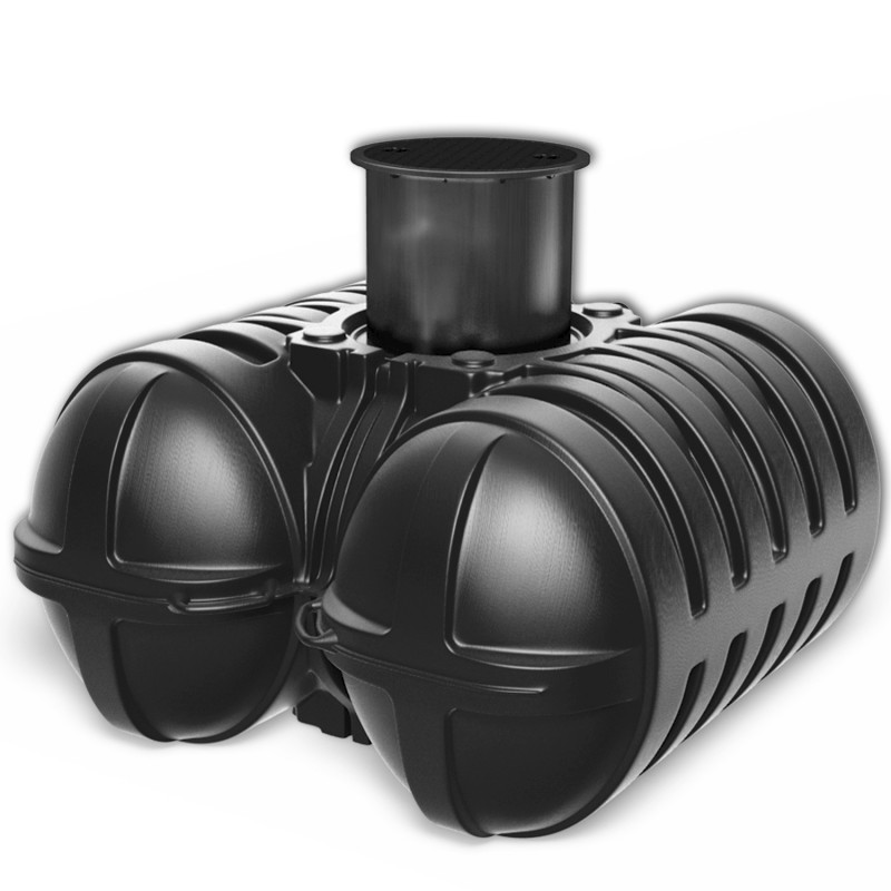 Plastová nízká jímka Twinbloc 5000 litrů Plastová plochá samonosná jímka o objemu 5000 litrů.